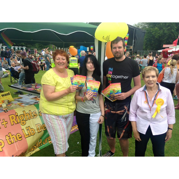 Chesterfield Pride 2016 Human Rights Campaign, Banner and Leaflets
