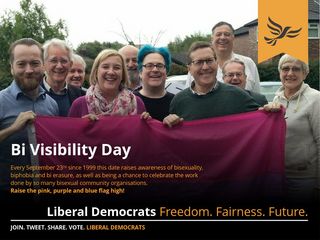 Bi Visibility Day 2018 - Northwest Liberal Democrats